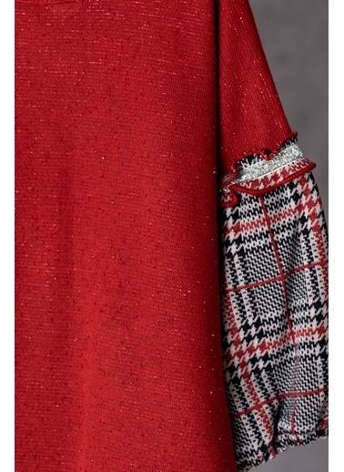 Zeyland Ekose Parçalı Simli Elbise (12ay-4yaş) Ekose Parçalı Simli Elbise (12ay-4yaş) Bordo